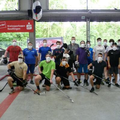 Medi-Cheval® Mehrweg-Gesichtsmaske beim Eishockey