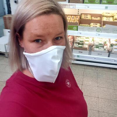 Medi-Cheval® Mehrweg-Gesichtsmaske während der Schwangerschaft beim Einkauf